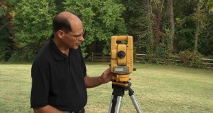 Setting up a total station in easy way