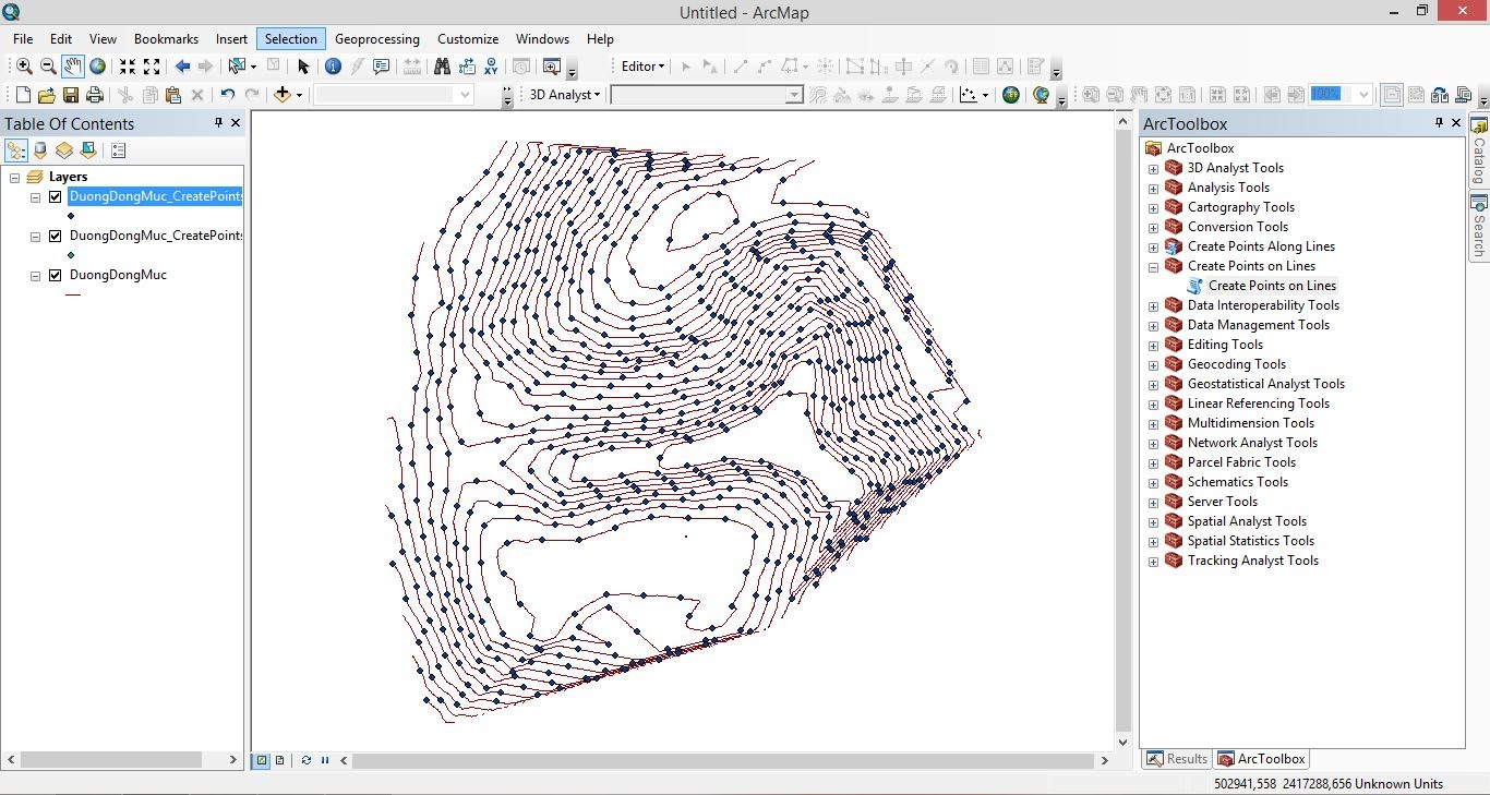 ArcGIS 10 Tutorial : How to convert contour to points