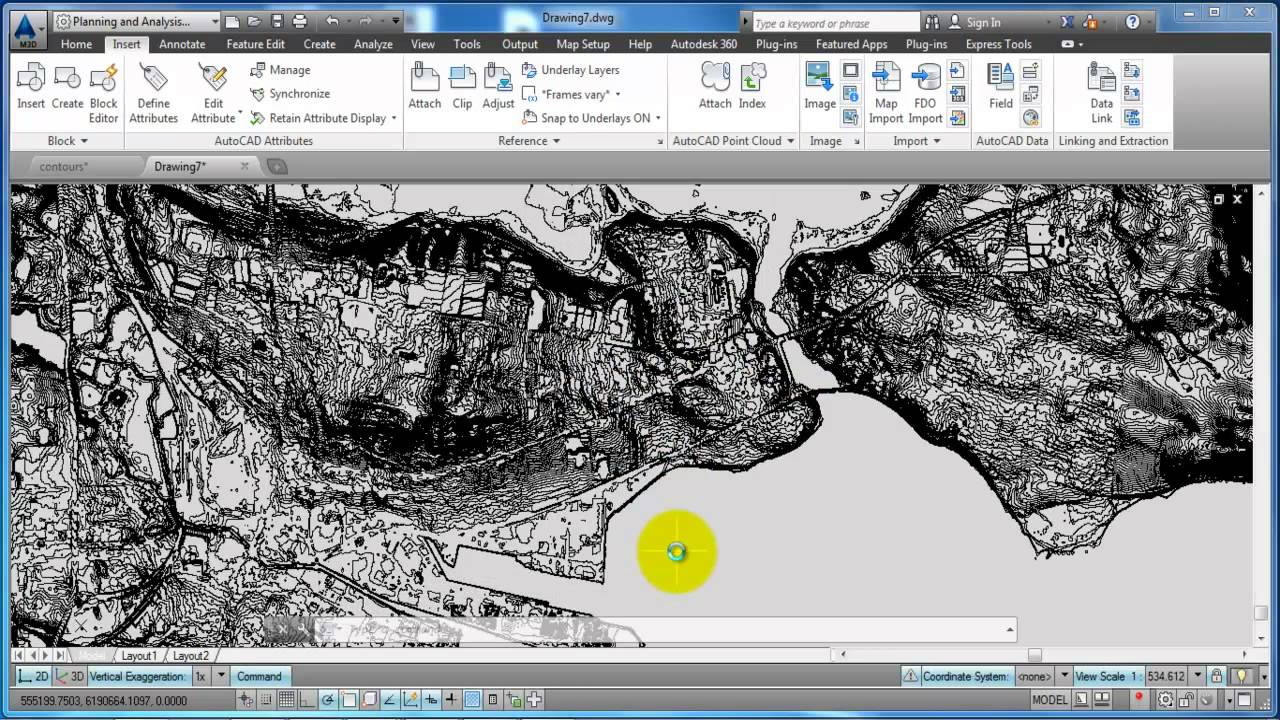 Drawing Lines In Keynote : Autocad map d import shapefile and edit drawing boundaries