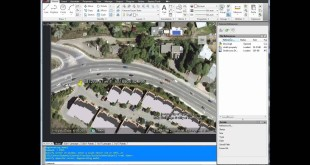 AutoCAD Tutorial : Insert and georeference google earth image