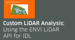 Custom LiDAR Analysis: Using the ENVI LiDAR API for IDL
