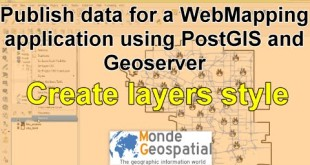 Publish data for a WebMapping  application using PostGIS and Geoserver | Create layers style