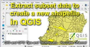 Copy Subset Data from a Shapefile in QGIS