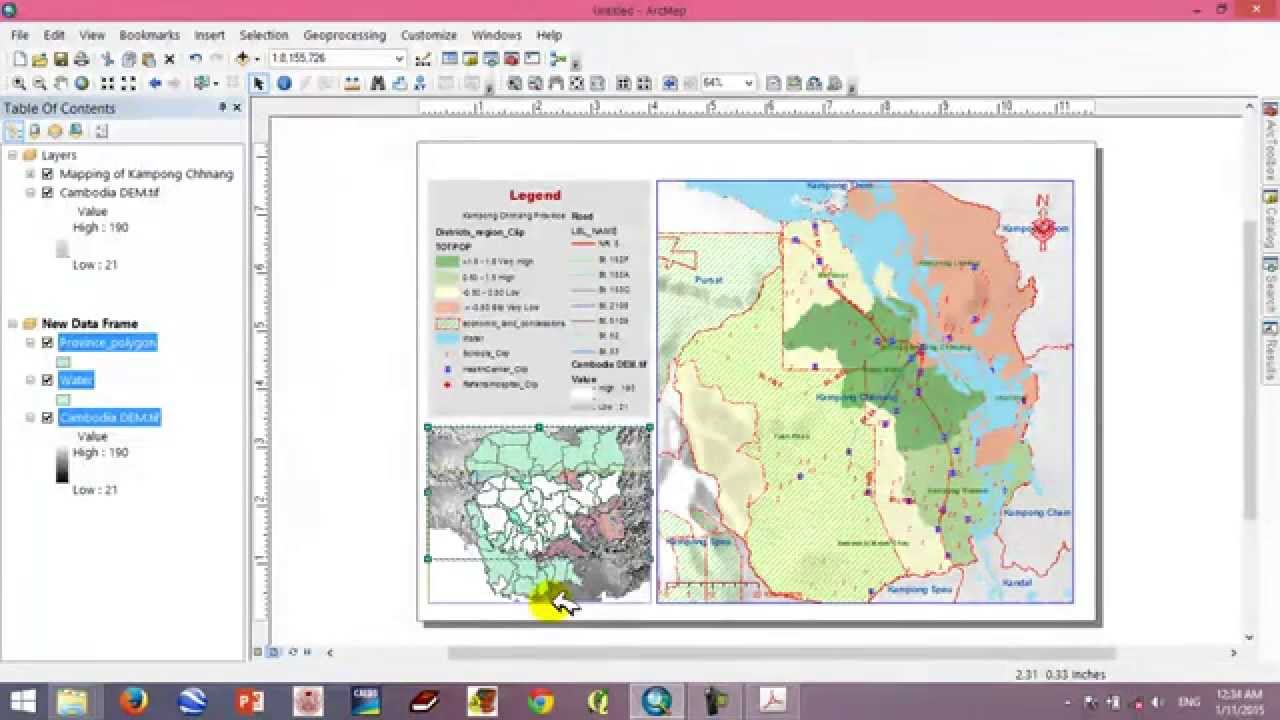 map layout with arcgis 10 2