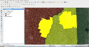 QGIS Tutorial :  Dissolve, Selections and Layering