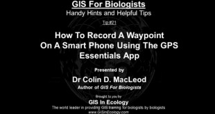 How To Record A Waypoint On A Smart Phone Using The GPS Essentials App