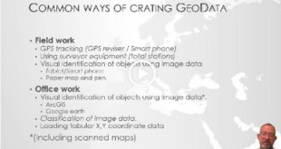 Introduction to common methods for creating/collecting geodata