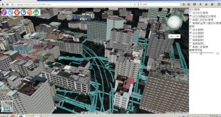 Underground Utilities Functions from SuperGIS 3D Earth Server