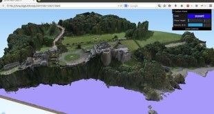 Using the plug-in QGIS2threejs to create stunning 3D visualisations in a webbrowser.