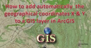 How to automatically add fields of geographical coordinates X & Y to a shapefile in ArcGIS