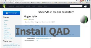 QAD plugin : CAD tools plugin for QGIS