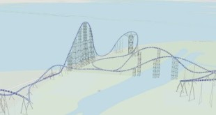 Millennium Force Coaster Animation with ArcGIS Pro 1.2