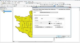 ArcMap 10: How to change the label orientation and label style