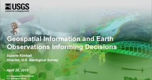 Geospatial Information and Earth Observations Informing Decisions