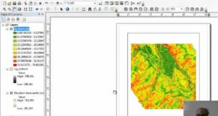 Make a slope map and a slopeshade in ArcMap