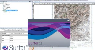 Golden Software Surfer 13 georeferencing map