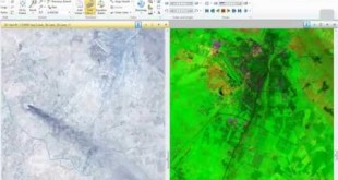 Landsat 8 Image, Analysis to show Oil tubes line by ERDAS IMAGINE