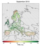 Monthly Fuel Moisture Content (FMC) values for Europe