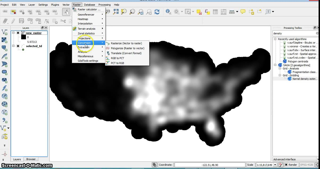 QGIS polygon contours from raster