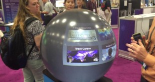 The Amazing Pufferfish Digital Globe at the Esri User Conference Startup Zone