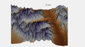 3D glacial ice conservation model animation
