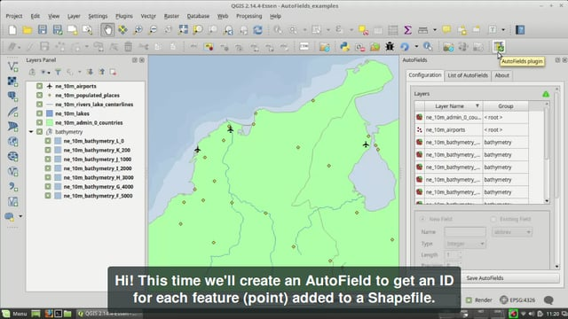AutoFields, ID for each point added to a Shapefile