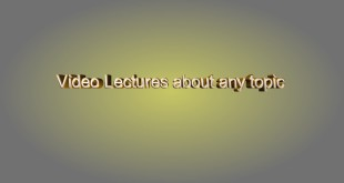A video Lecture about geographical information