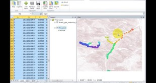 GIS.XL – GPS track point data in Excel