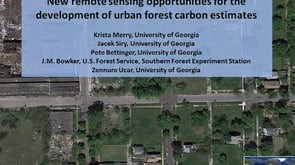 New Remote Sensing Opportunities for Development of Urban Forest Carbon Estimates