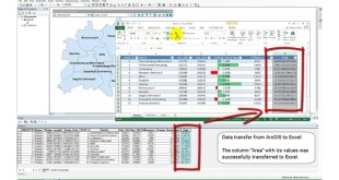 Transfer data between ArcGIS and Excel
