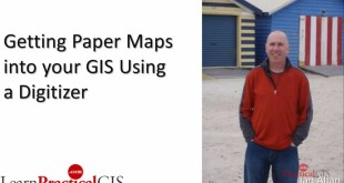 Using a Digitizer to convert a paper map into a GIS map