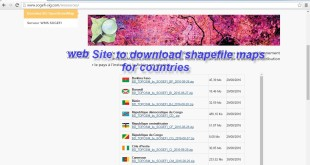 Website to download shapefile maps for countries