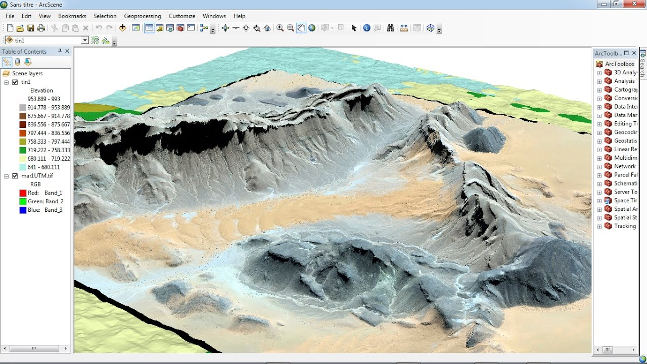 ArcGIS 3D analyst Draping an image over a terrain surface