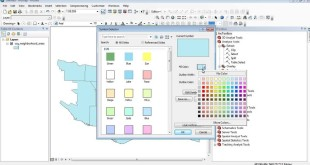 ArcMap 10: How to edit polygon colour and outline, as well label