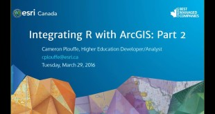 Integrating R with ArcGIS (Part 1)