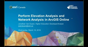 Perform Elevation Analysis and Network Analysis in ArcGIS Online