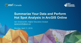 Summarize Your Data and Perform Hot Spot Analysis in ArcGIS Online