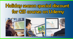 Holiday season special discount for GIS courses on Udemy