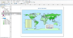 add attribute table to layout in arcgis