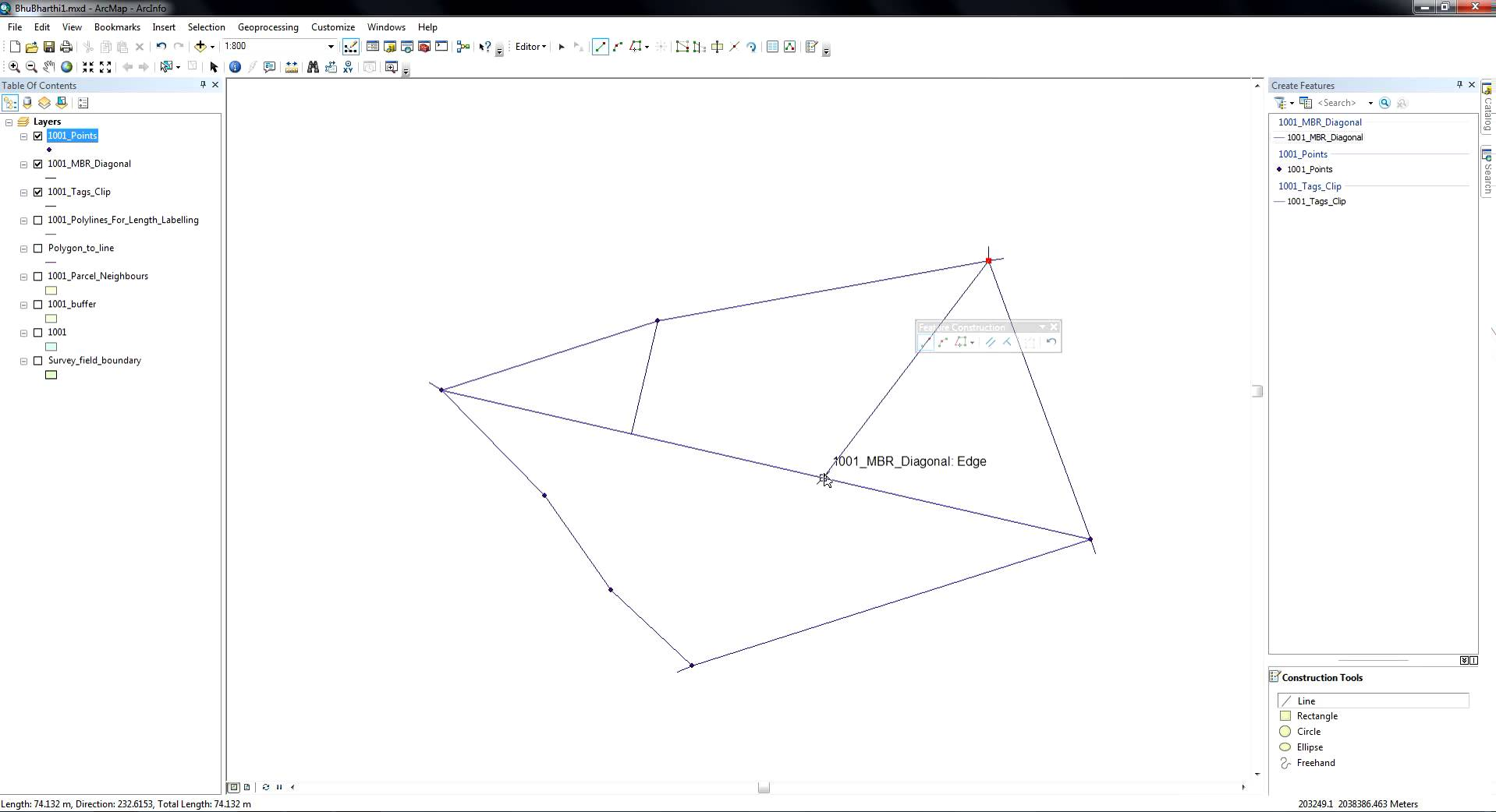 Drawing Lines In Qgis : Arcgis draw perpendicular lines from vertices to