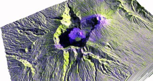 Mount Rinjani – Sentinel1 Image drapped over SRTM