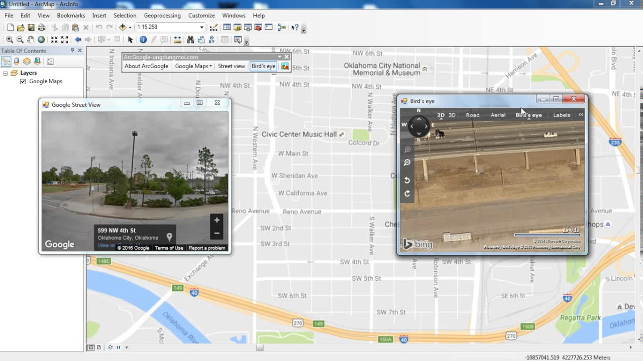 Street View and Google Map in ArcGIS