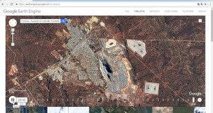 Google Earth Engine Timelapse, Fimiston, Las Vegas, Dubai from 1984 to 2016