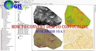 How to convert from free DEM 30 meters to Slope and contour line in ArcGIS 10.4