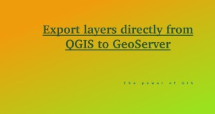 Layers from QGIS to Geoserver