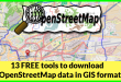 13 FREE tools to download OpenStreetMap data in GIS format