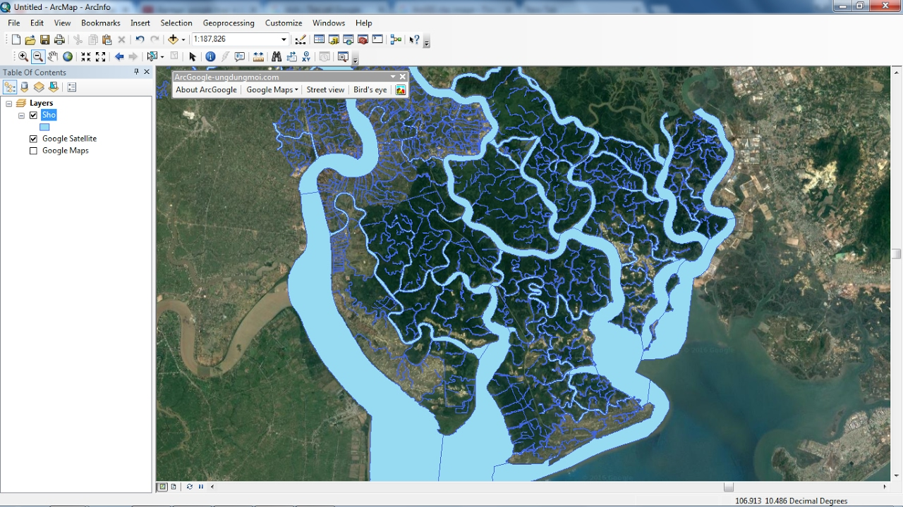 Add Google maps to ArcGIS (support for ArcGIS 10 5) - Monde Geospatial