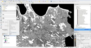 How to do automated unsupervised classification of Landsat 8 data in QGIS