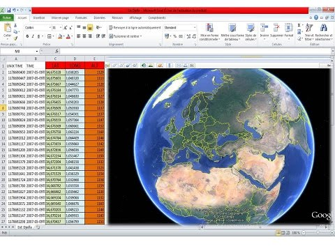 How to get elevation of a set of points from google earth