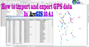 How to import and export GPS data in ArcGIS